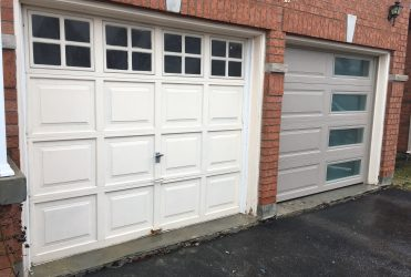 Compare garage door before and after !!