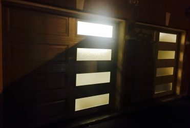 Night view garage doors Thornhill